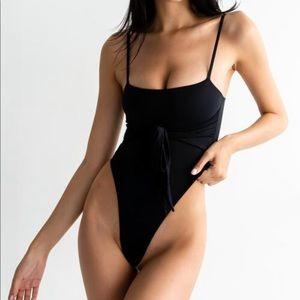 437 Swimwear Black One Piece